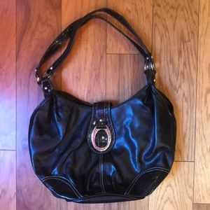 Women's Black Leather Purse/Bag